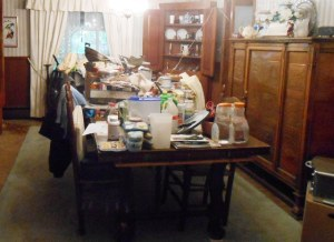 This is not a scene from Hoarders!